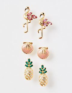 Tropical Stud Earrings 3-Pack