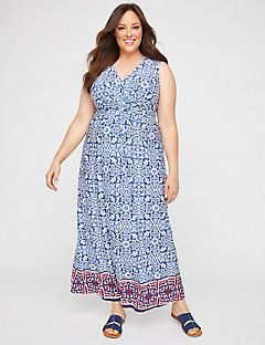 Visionary Twist-Knot Maxi Dress