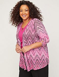 Shadow Stripe Cardigan