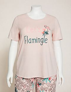 Flamingo Flair Cotton Sleep Tee