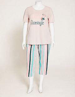 Sorbet Stripe Cotton Sleep Capri