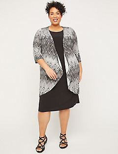 Chevron Shadow Jacket Dress