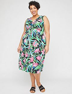 Paradise Twist-Knot Fit & Flare Dress