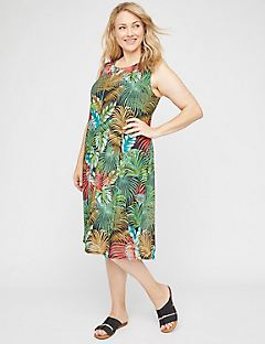 Botanical Blend A-Line Dress
