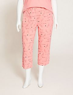 Lush Leopard Cotton Sleep Capri