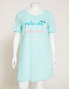 Positive Vibes Cotton Sleepshirt