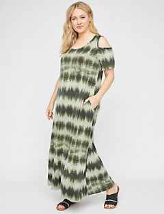 Pine Island Open-Shoulder Maxi Dress (With Pockets)