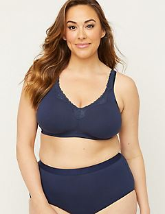 Solid No-Wire Cotton Comfort Bra